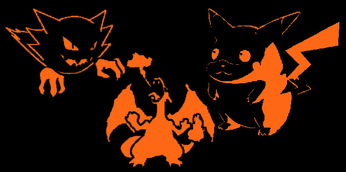 Haunter, Charizard and Pikachu Pumpkin Patterns