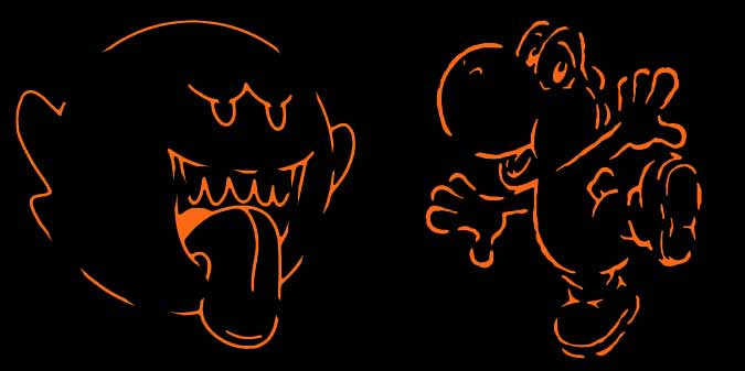 Boo and Yoshi from Mario